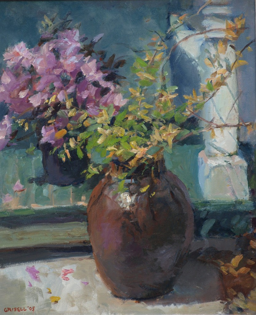 Spring Blossoms, Oil on Canvas, 24 x 20 Inches, by Susan Grisell, $650