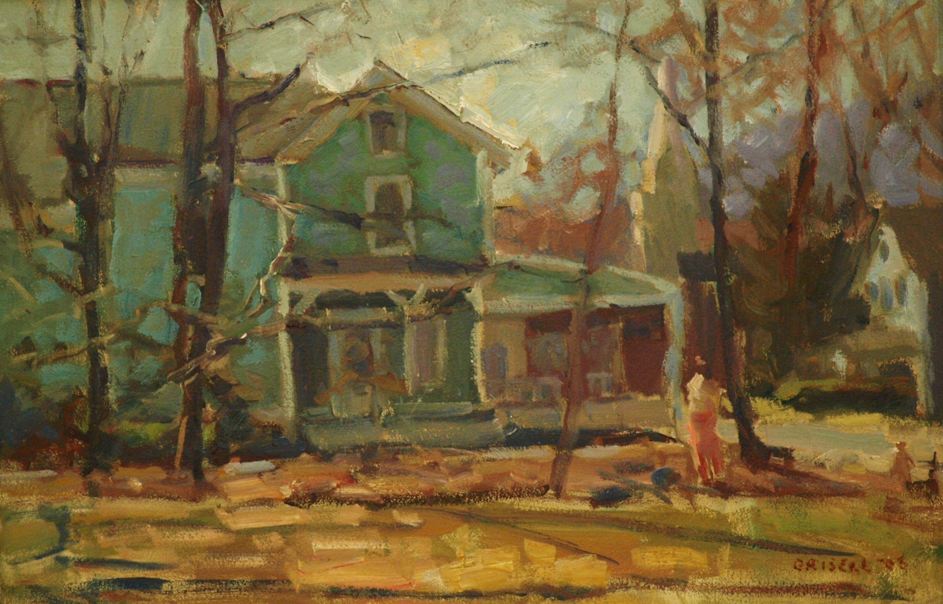 Spring Morning - Kent, Oil on Panel, 12 x 18 Inches, by Susan Grisell, $325