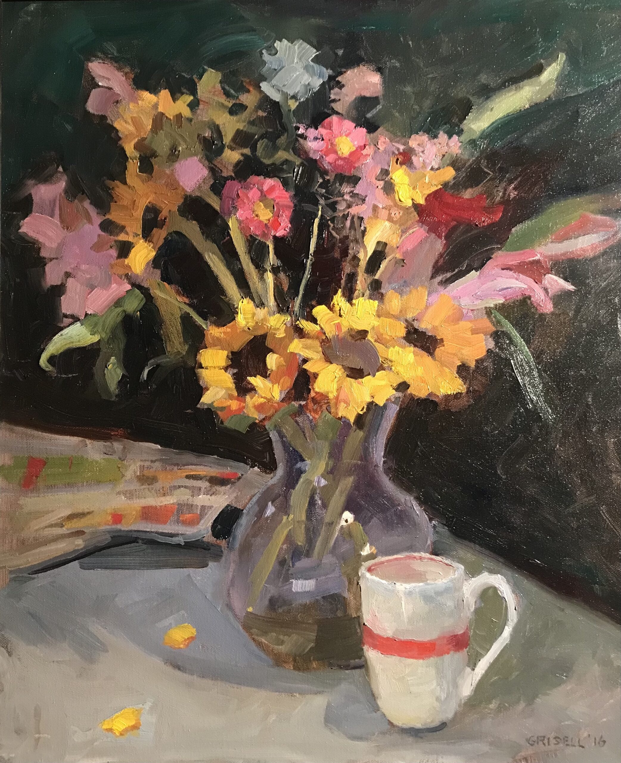 """""""Sunday Morning"""", Oil on Canvas, 24 x 20 Inches, by Susan Grisell $750"""