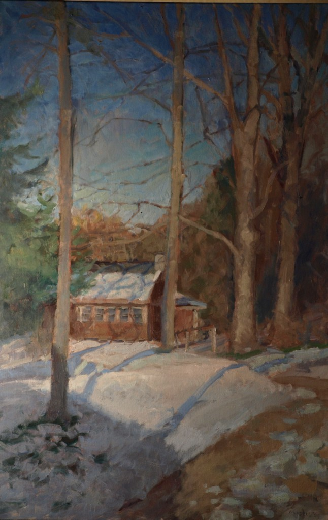 Tall Trees, Oil on Canvas, 36 x 24 Inches, by Susan Grisell, $1200