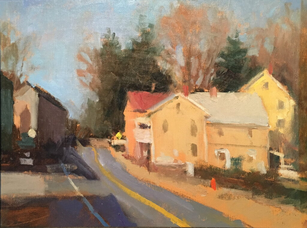 The Road out of Town, Oil on Canvas on Panel, 11 x 14 Inches, by Susan Grisell, $325