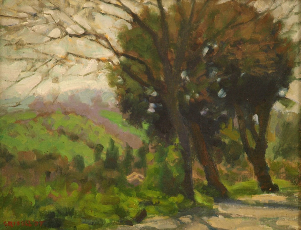 Umbrian Landscape, Oil on Panel, 14 x 18 Inches, by Susan Grisell, $450