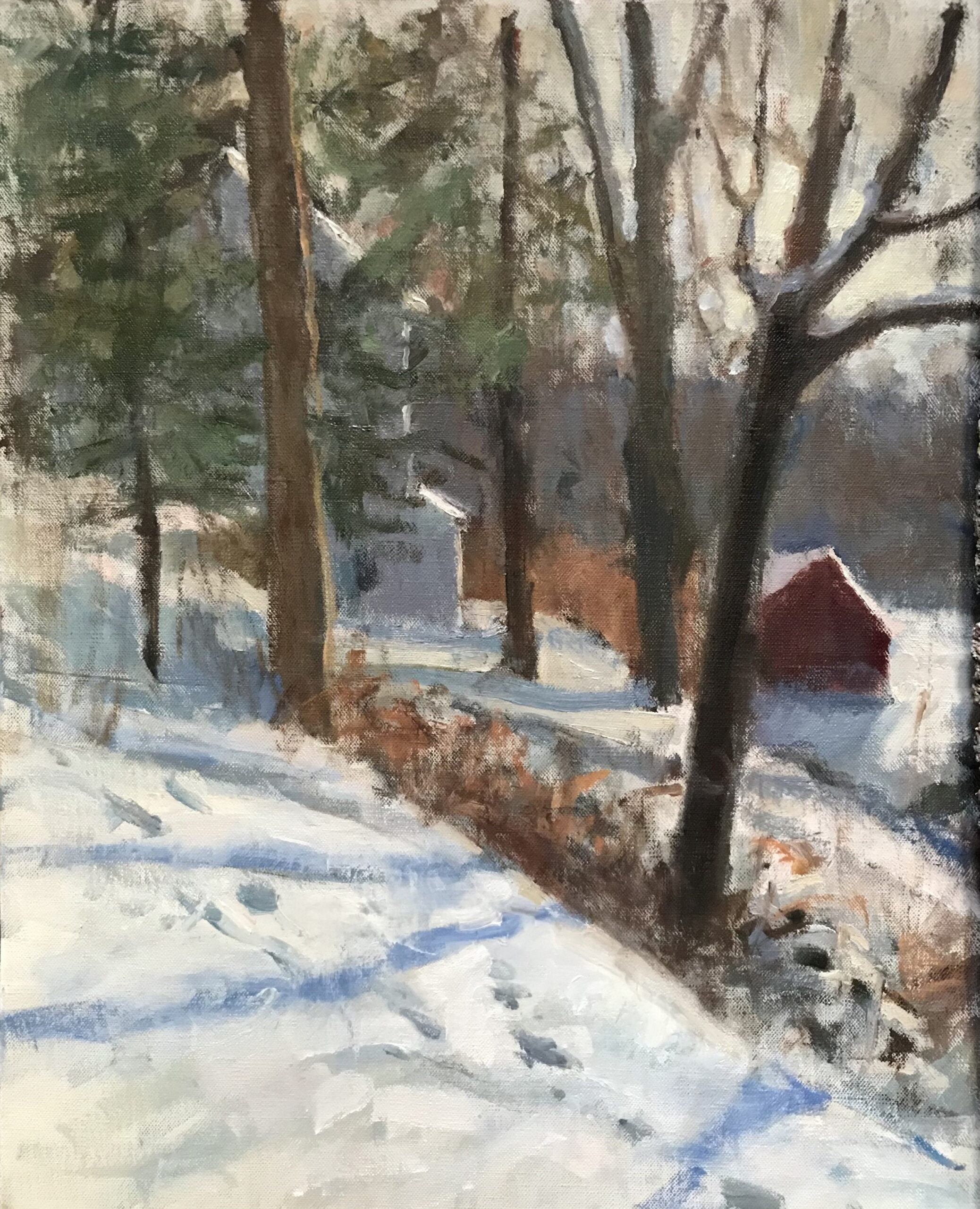 View from the Porch, Oil on Canvas, 20 x 16 Inches, by Susan Grisell, $750