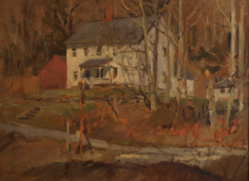 White House - Late Afternoon, Oil on Canvas, 18 x 24 Inches, by Susan Grisell, $650