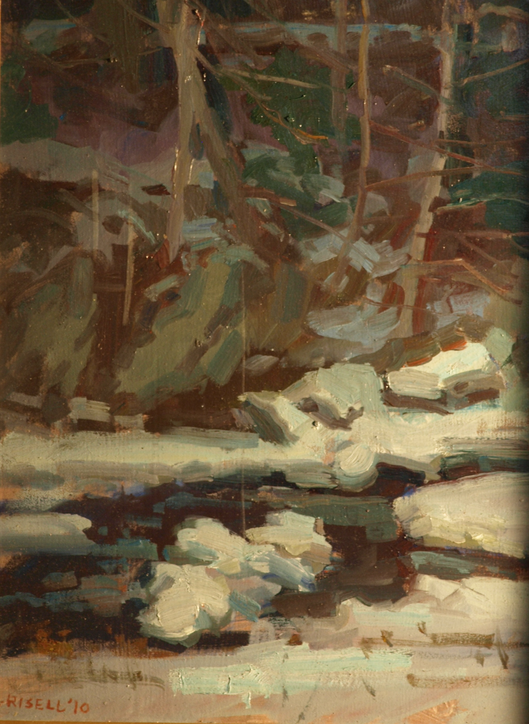 Winter Patterns, Oil on Linen on Panel, 16 x 12 Inches, by Susan Grisell, $300