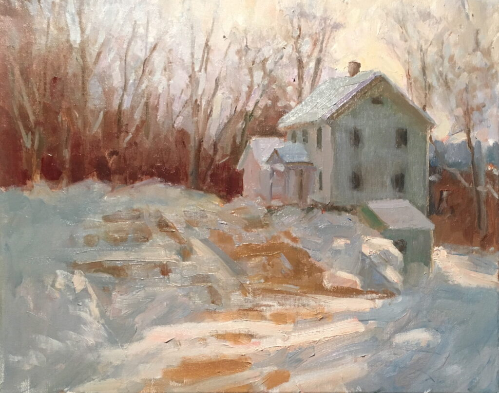 Yesterday's Snowfall, Oil on Canvas, 16 x 20 Inches, by Susan Grisell, $550